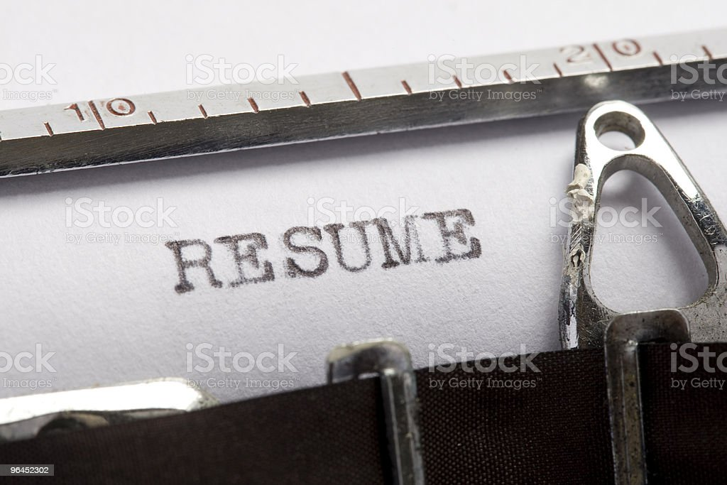 Resume - Job Application royalty-free stock photo