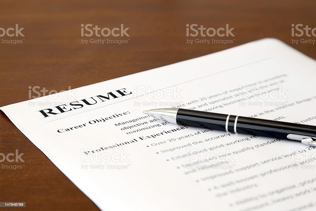 Resume on the Table royalty-free stock photo