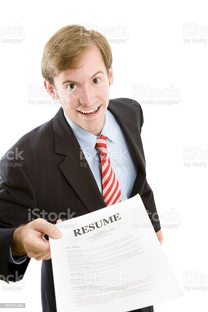 Resume royalty-free stock photo