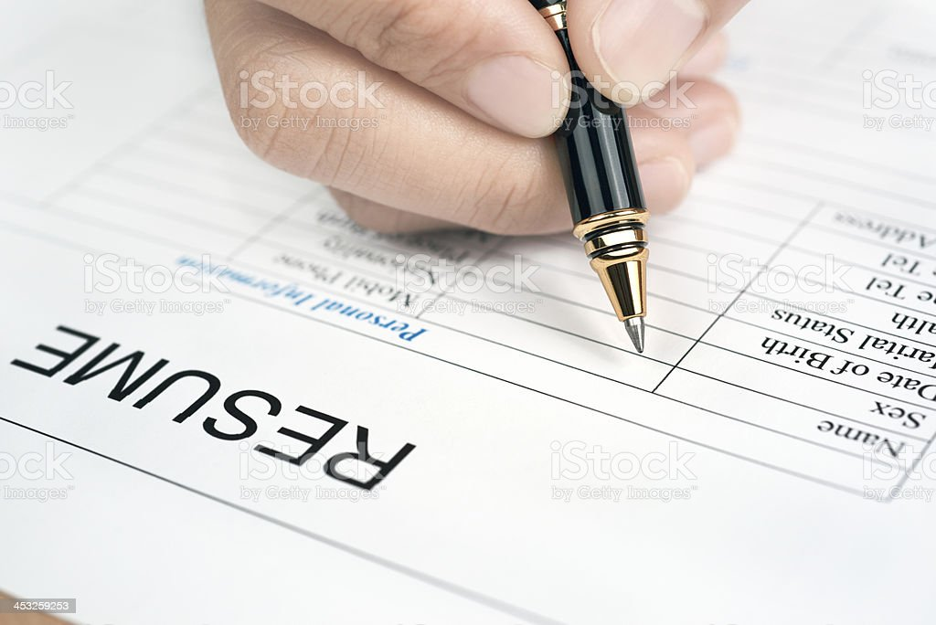 Resume royalty-free stock photo