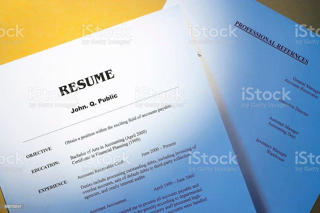 Resume #2 royalty-free stock photo