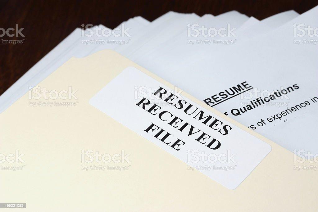 Resumes stock photo