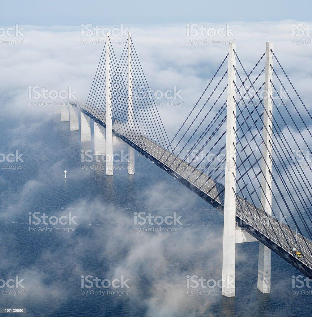 Öresund bridge stock photo