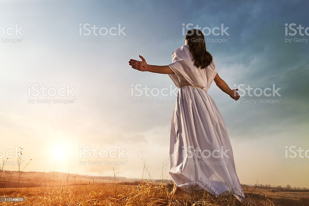 Resurrected Jesus Christ royalty-free stock photo