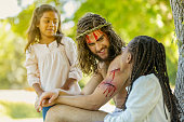 Resurrected Jesus Talking with Children