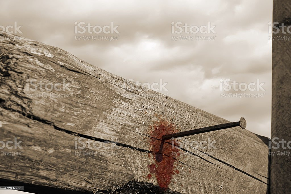 Resurrection - ALLELUIA Jesus lives stock photo