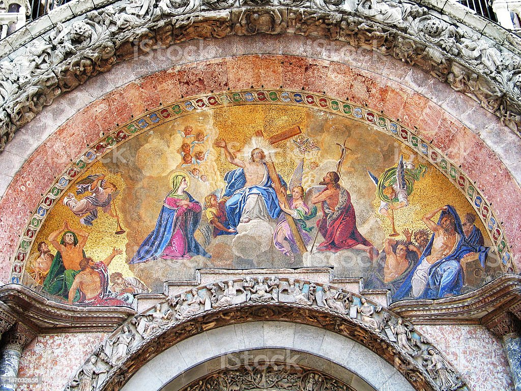 Resurrection of Jesus - Venetian mosaic royalty-free stock photo
