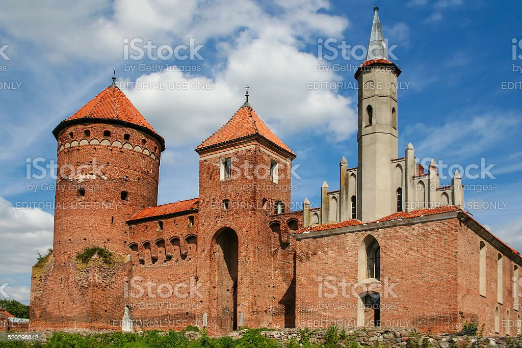 Reszel Castle stock photo