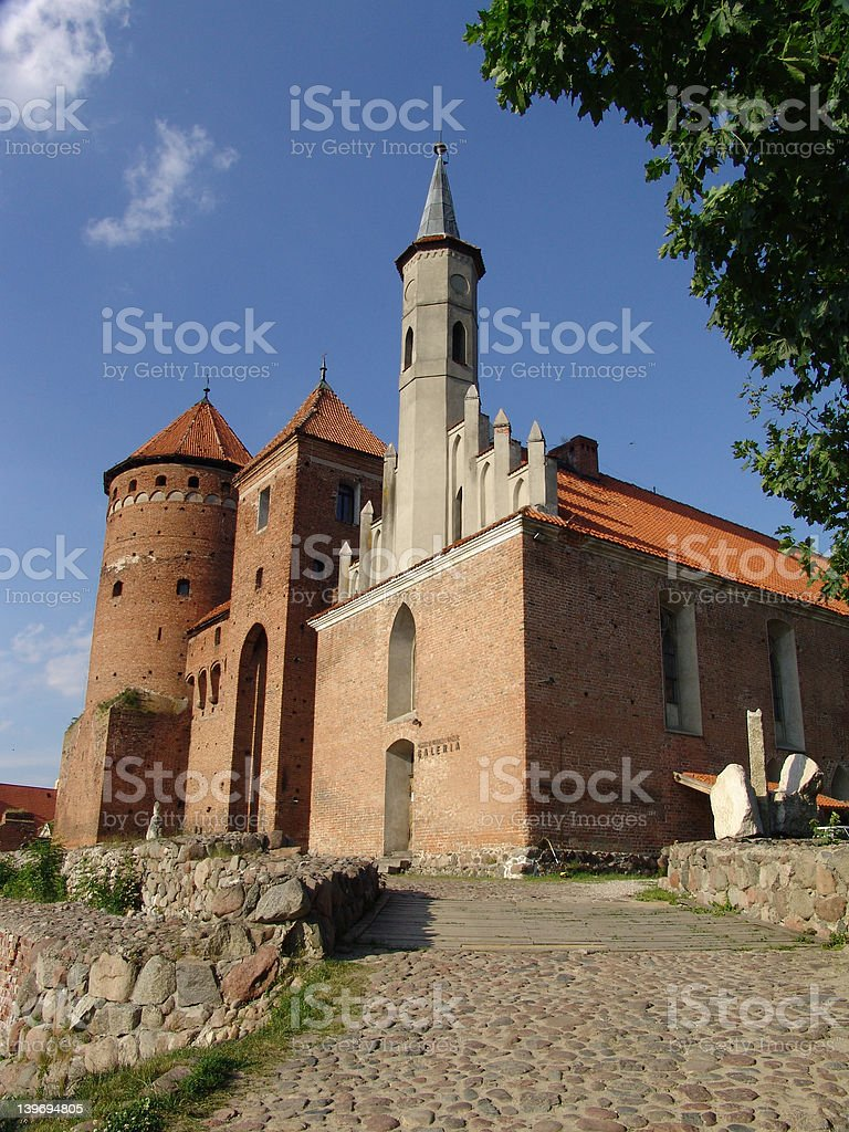 Reszel Castle Poland stock photo