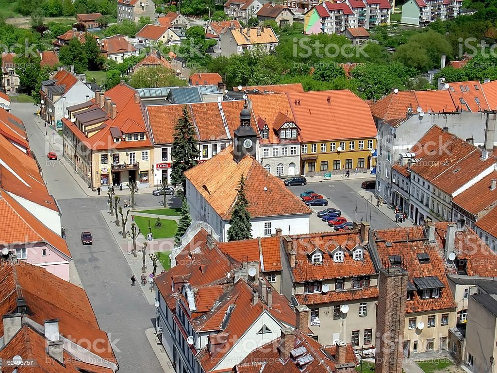 Reszel oldtown stock photo