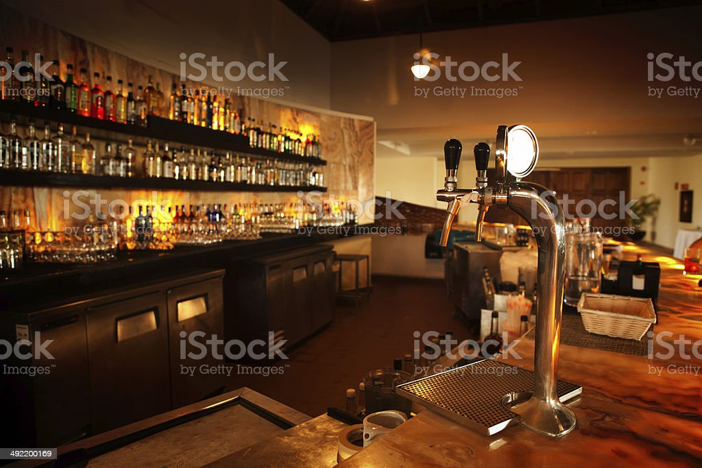 Retail Bar Counter in Restaurant stock photo