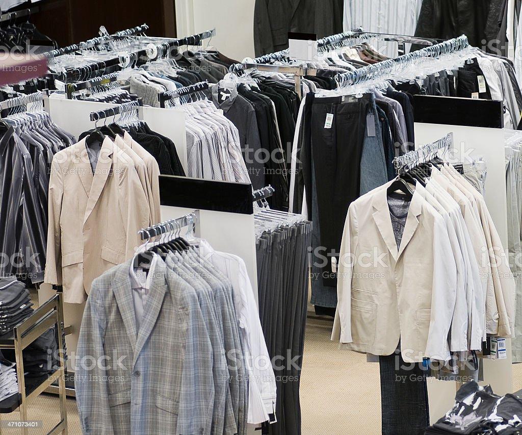 Retail Clothing Racks royalty-free stock photo
