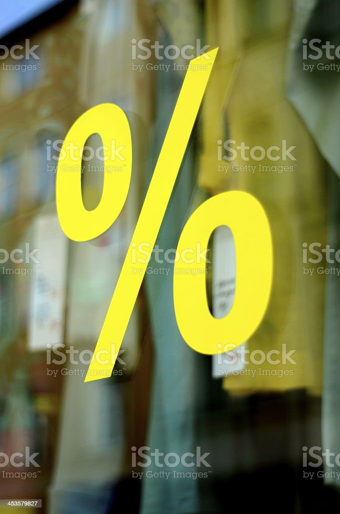 Retail Fashion Store Sale Percent Sign royalty-free stock photo