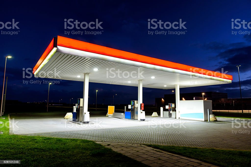 Retail Gasoline Station stock photo