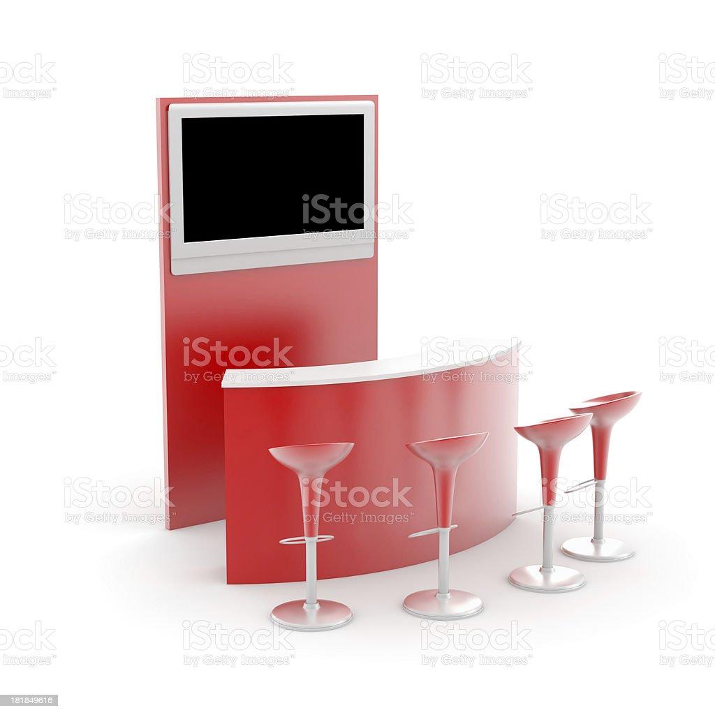 Retail Kiosk stock photo