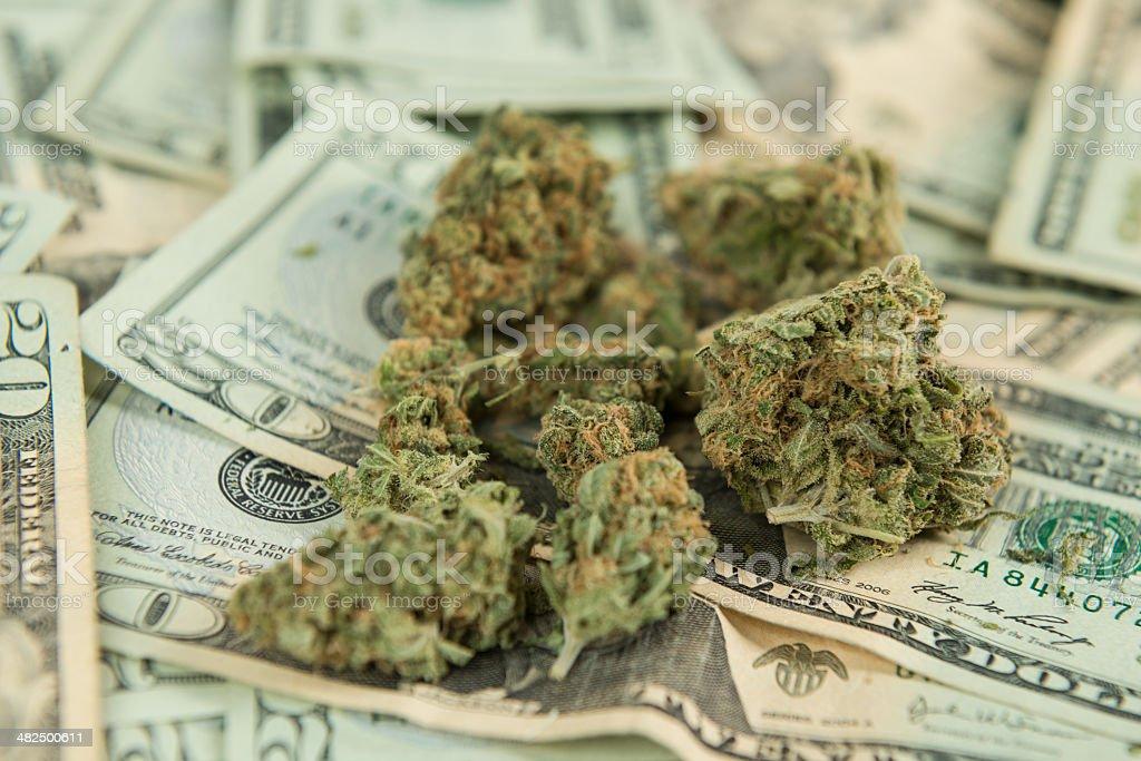 Retail Marijuana Concept royalty-free stock photo