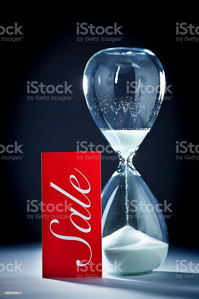 Retail Sale Deadline with Countdown Time Running Out stock photo