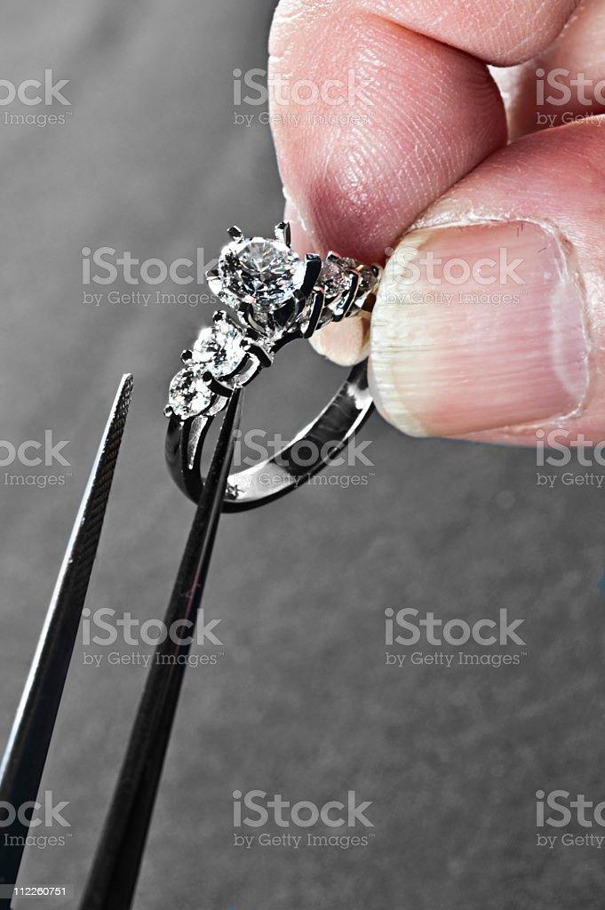 Retail - Service: diamond ring remount stock photo