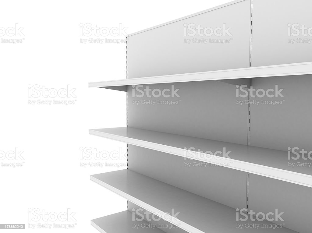 retail shelves royalty-free stock photo