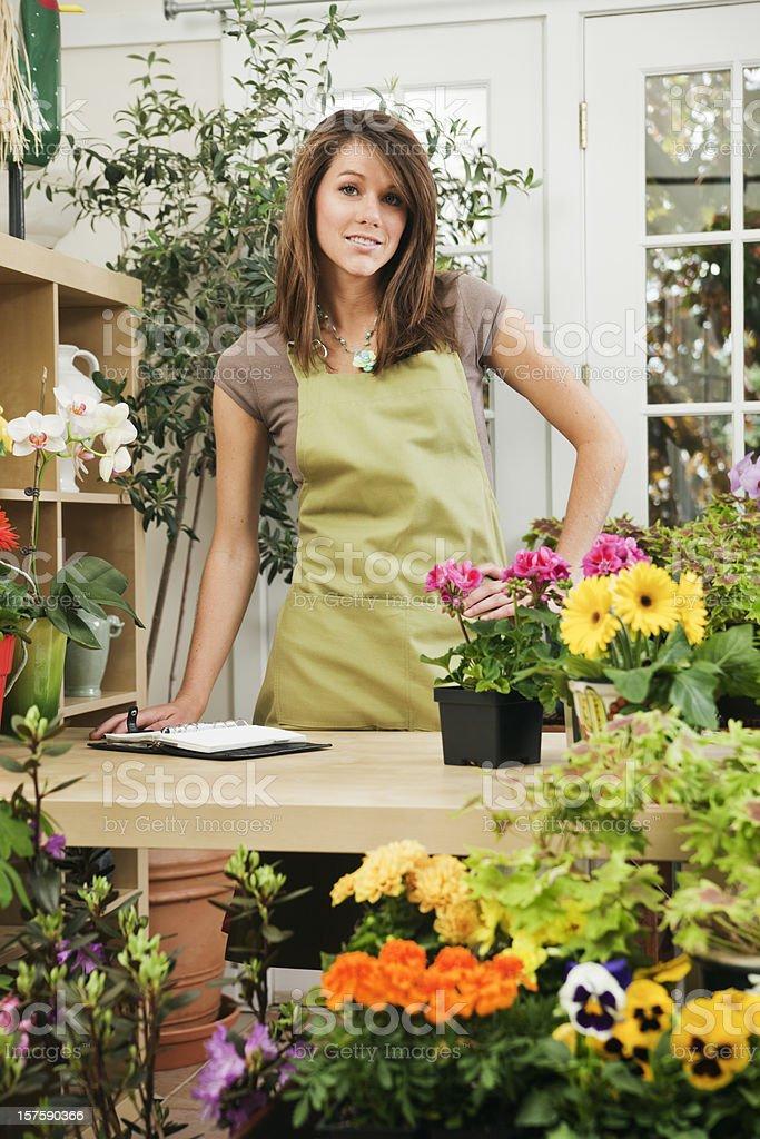 Retail Small Business Flower and Garden Center Entrepreneur Vt royalty-free stock photo