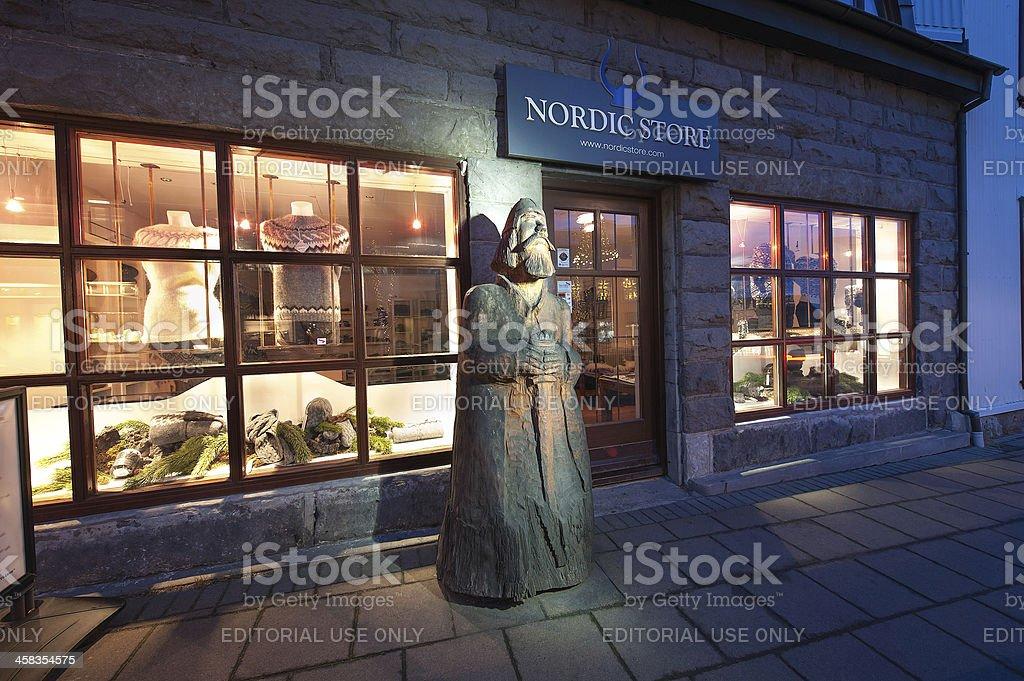 Retail Store in Reykjavik, Iceland royalty-free stock photo
