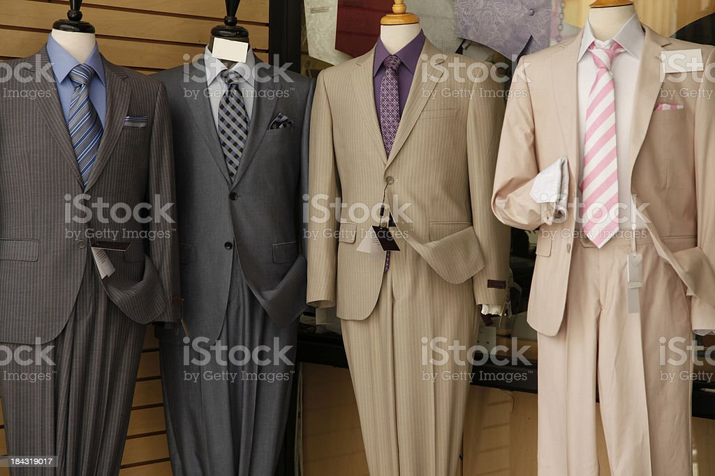 Retail Store Window Mannequins royalty-free stock photo
