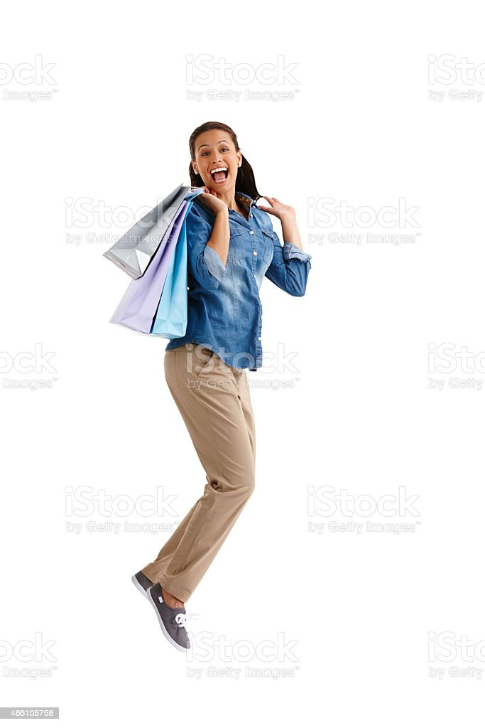 Retail therapy's got me excited stock photo