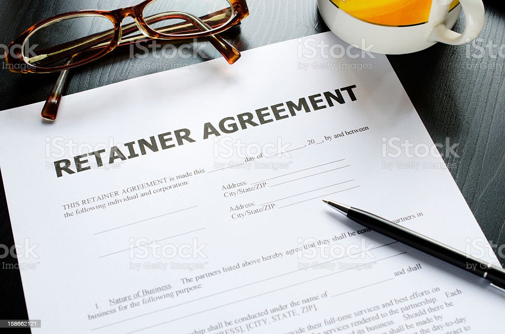 retainer agreement royalty-free stock photo