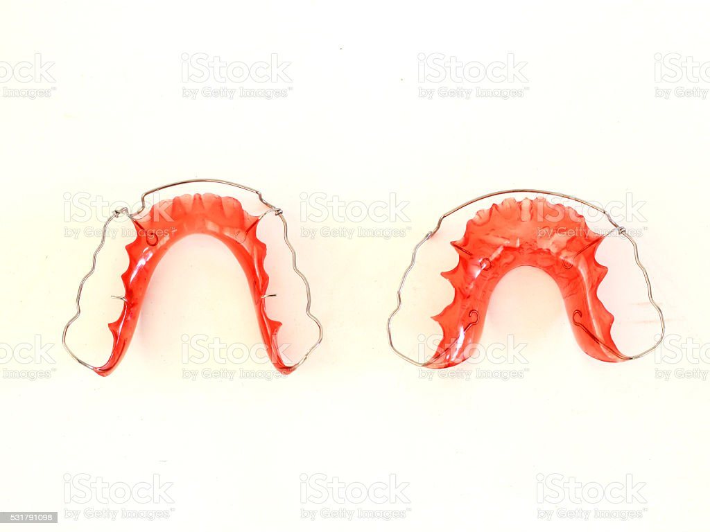 Retainer for Teeth stock photo