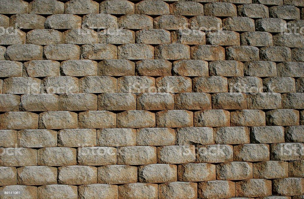 Retaining Wall 2 royalty-free stock photo