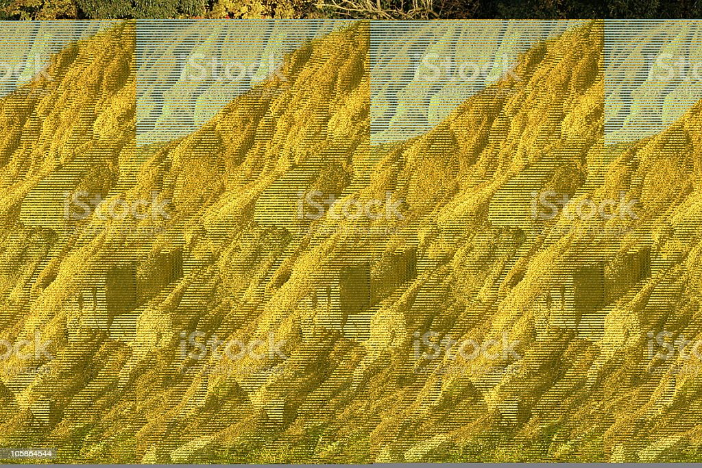 Retaining Wire Mesh Over Eroding Cliff Face stock photo