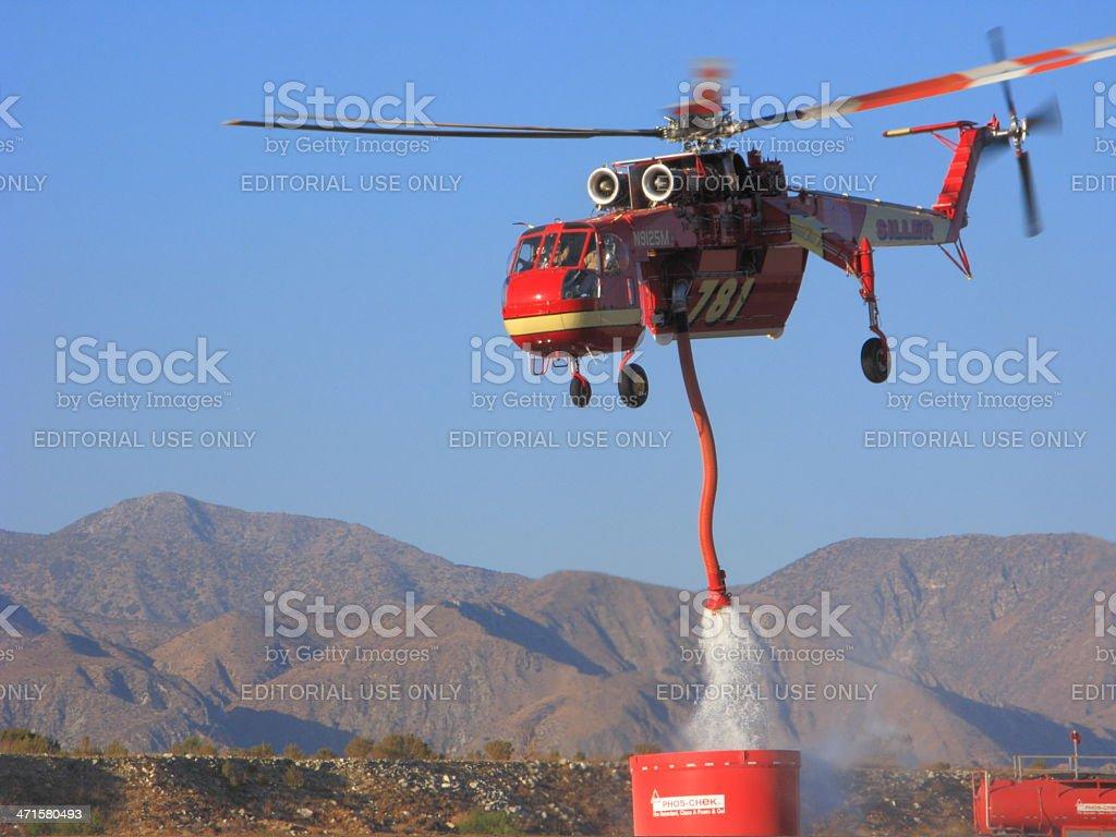 Retardant Refill, Sikorsky sky Crane S-640 royalty-free stock photo