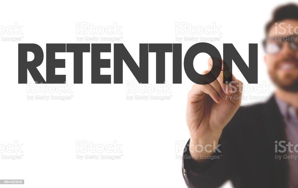 Retention stock photo
