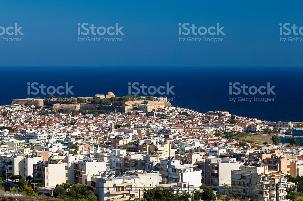 Rethymno, Crete, cityscape stock photo
