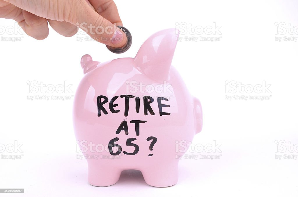 Retire at 65? stock photo