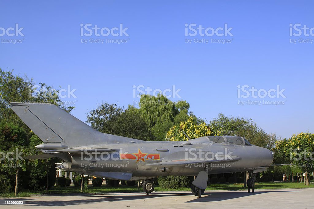 retired air force fighter stock photo