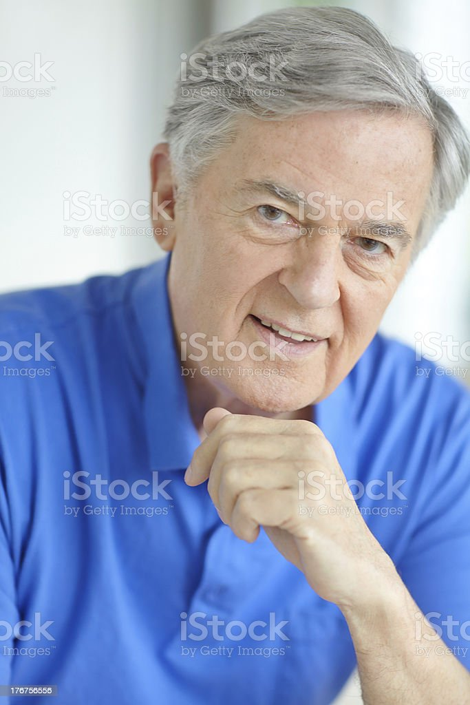 Retired and fulfilled royalty-free stock photo