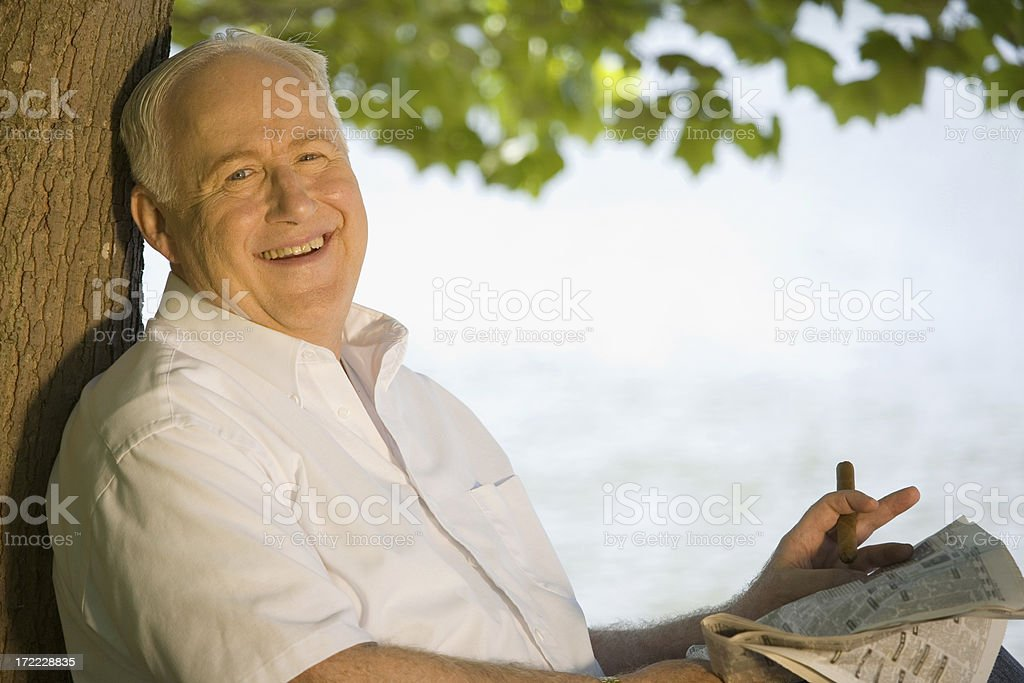 Retired and Loving it! royalty-free stock photo