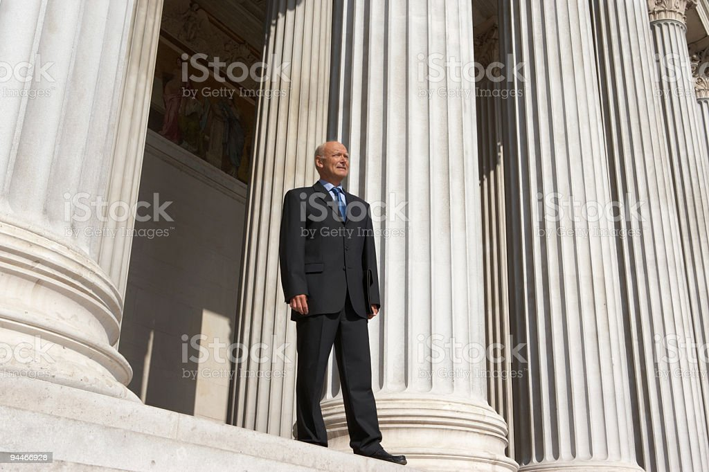 retired businessman royalty-free stock photo