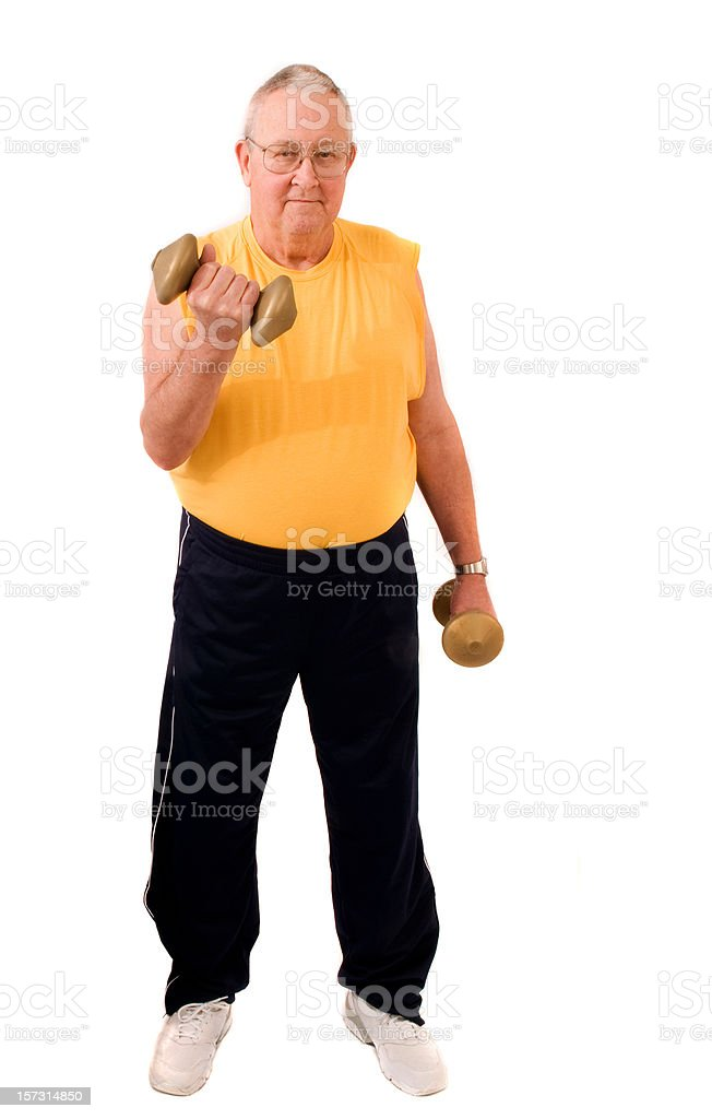 Retired guy gets healthy stock photo