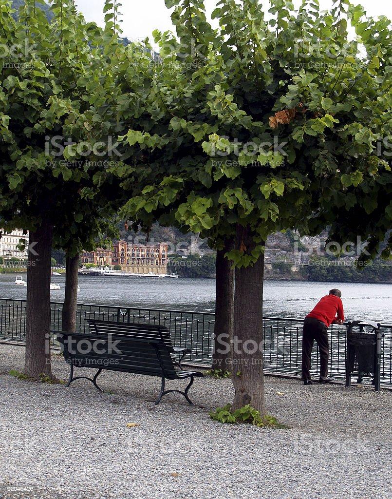 Retired; Lake Como stock photo