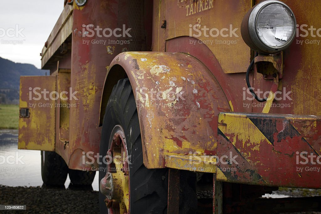 Retired old fire truck royalty-free stock photo
