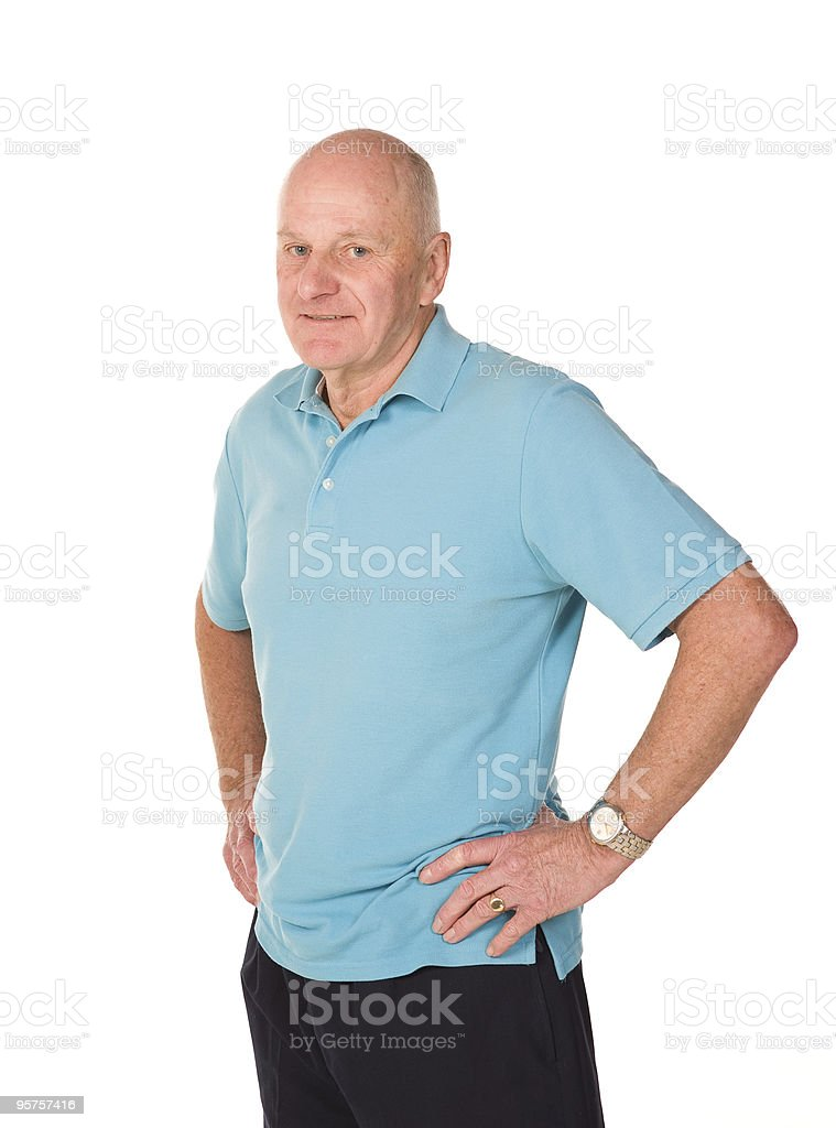 Retired older man royalty-free stock photo