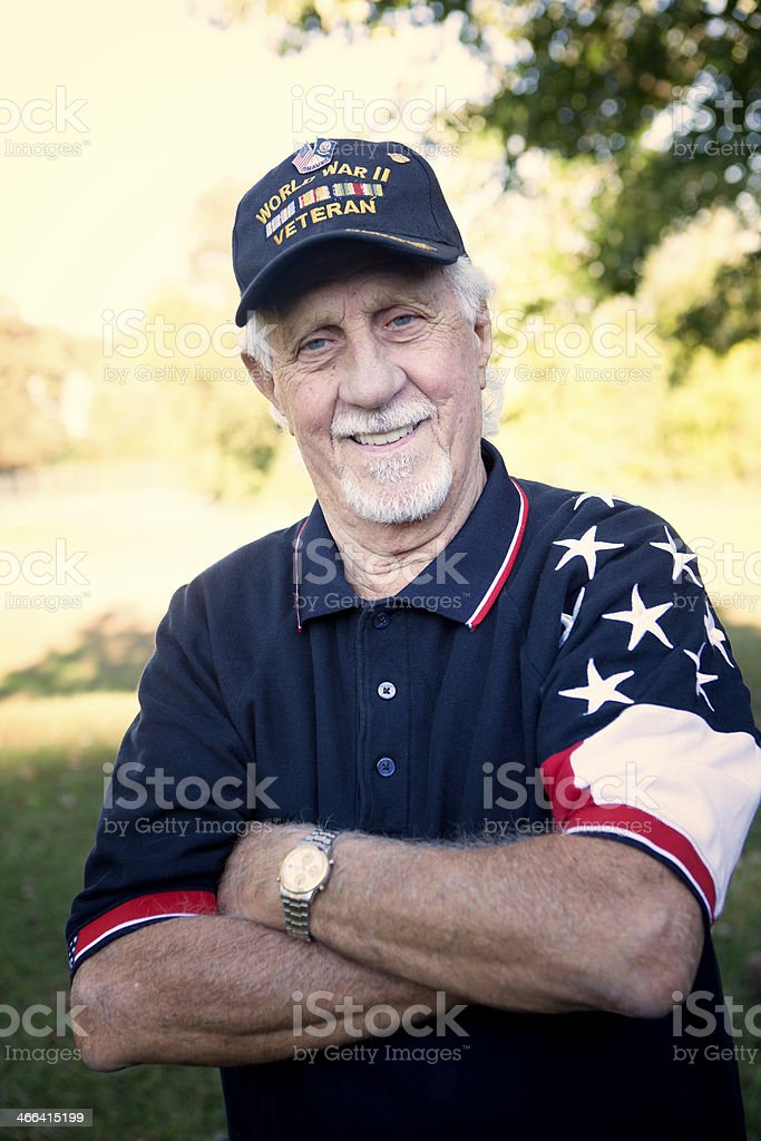Retired Veteran stock photo