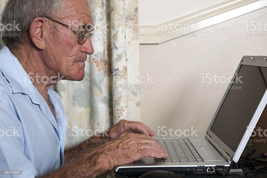 Retiree Laptop stock photo