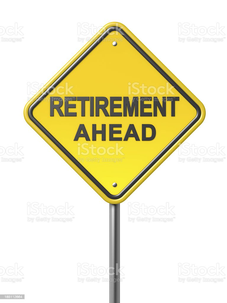 Retirement ahead Sign royalty-free stock photo