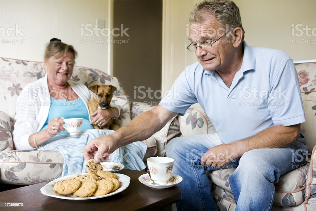 retirement: another biscuit... royalty-free stock photo