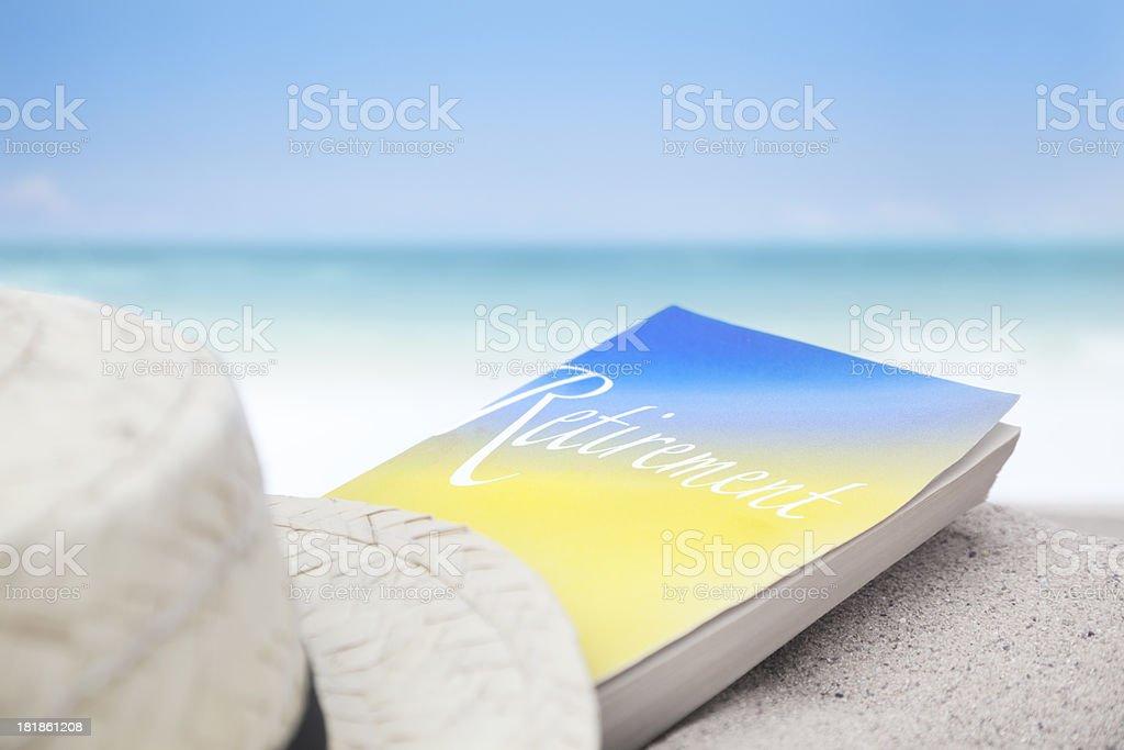 Retirement Book Concept stock photo