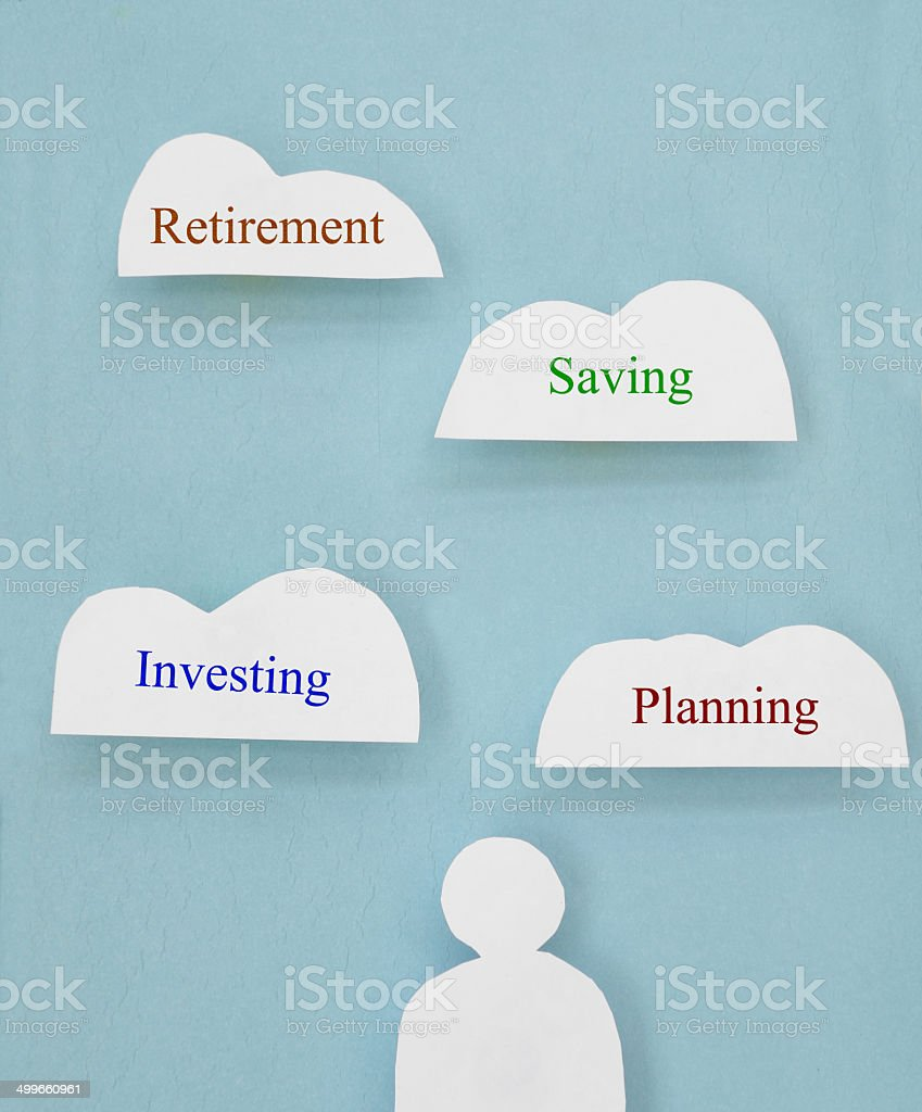 Retirement clouds stock photo