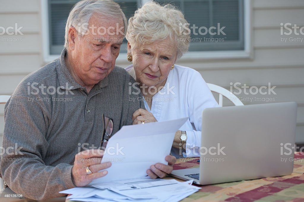 Retirement finance stock photo
